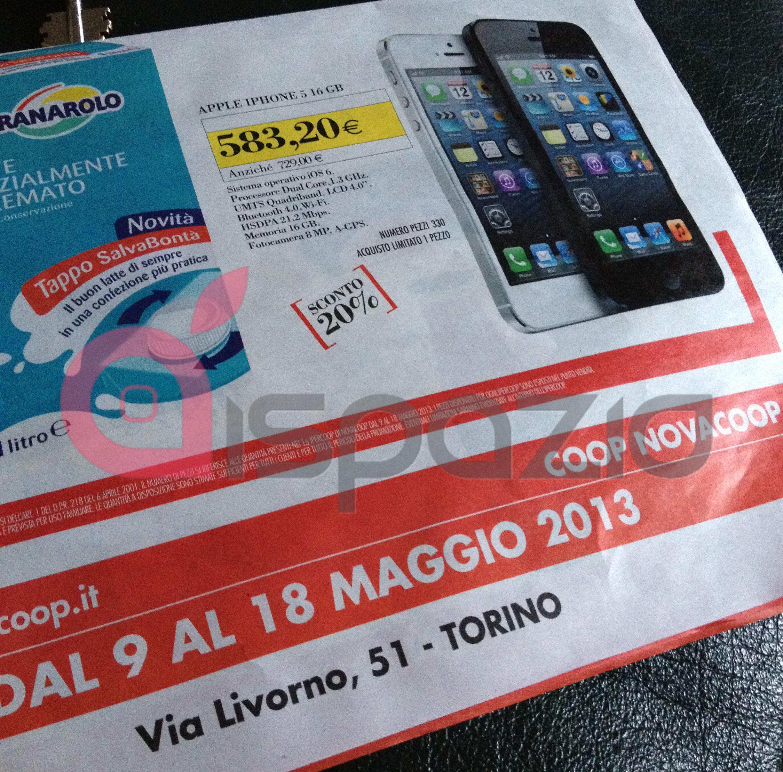 iPhone 5 16 Gb in offerta a 583 euro alla Coop di Torino!