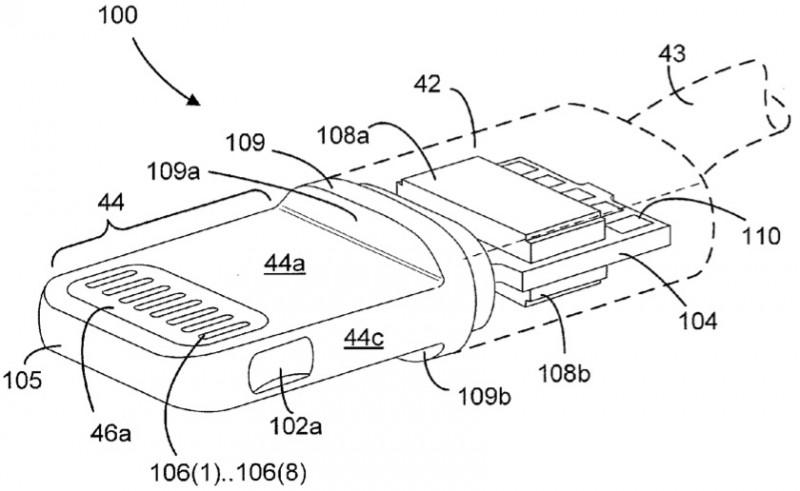 Connettore Lightning descritto minuziosamente in 3 richieste di brevetto