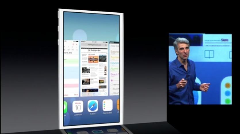 Il nuovo Multitasking di iOS 7 cambia grafica e funziona con tutte le App