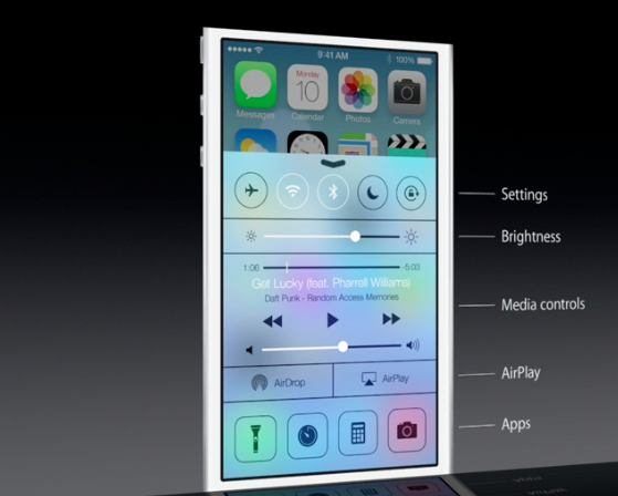 Control Center per iOS 7: arrivano finalmente i toggles in qualsiasi schermata