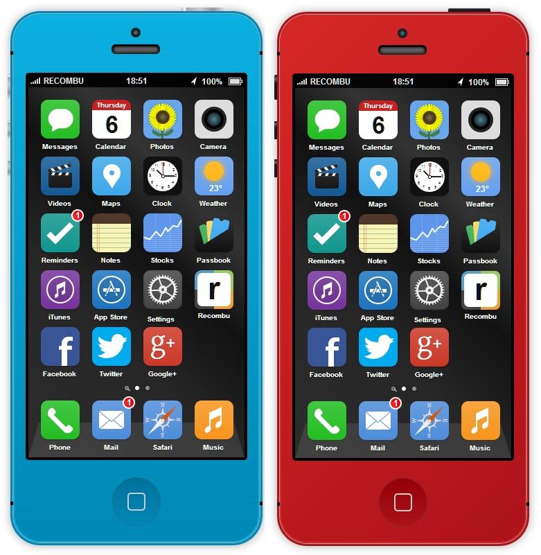 iOS 7 su iPhone 5S: ecco il primo concept interattivo che potete provare voi stessi!