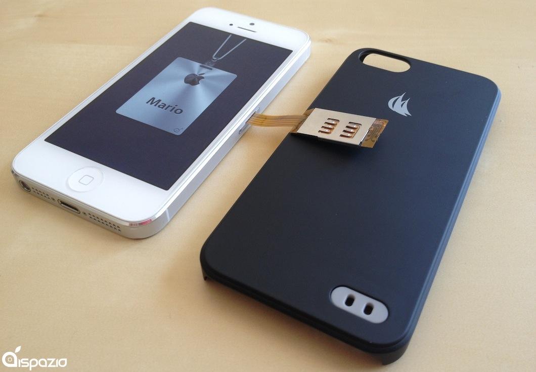 2 sim card in un unico iphone grazie a dual sim per. Black Bedroom Furniture Sets. Home Design Ideas