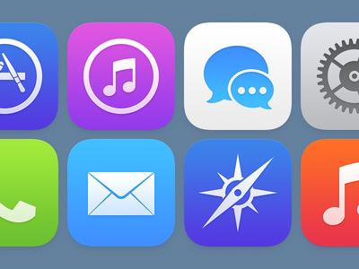 Ecco le icone di iOS 7 ridisegnate da un ex di Apple: basta poco per renderle bellissime