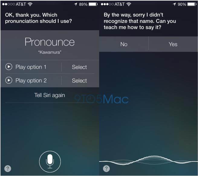 Con iOS 7, potremo insegnare a Siri come pronunciare correttamente un nome!