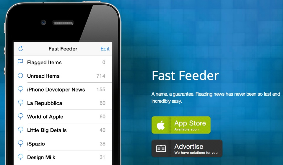 Fast Feeder, l'app che rivoluzionerà il modo di leggere le notizie su iPhone