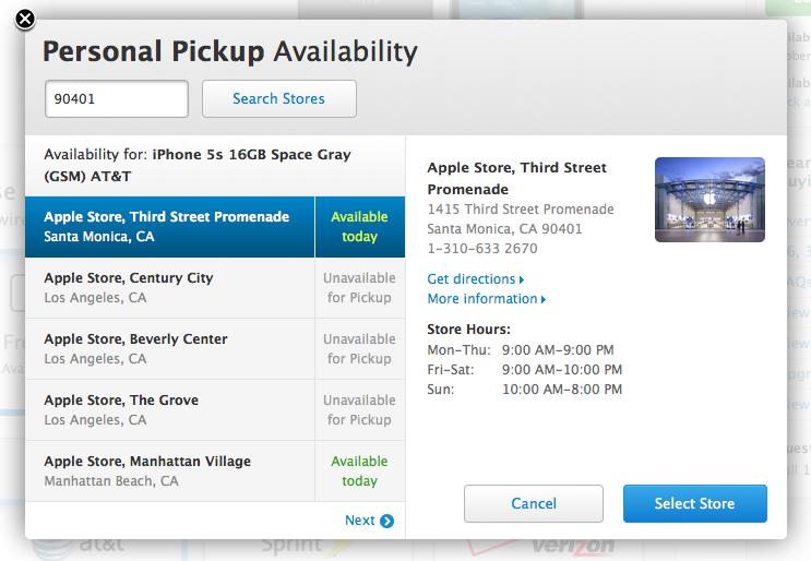 Apple lancia il programma Personal Pickup in USA per l'acquisto di iPhone 5S e 5C