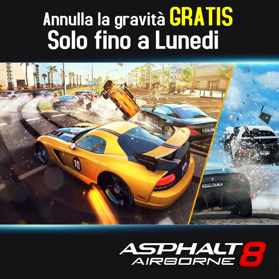 Asphalt 8: Airborne GRATIS fino a lunedì su iPhone, iPad e iPod touch!