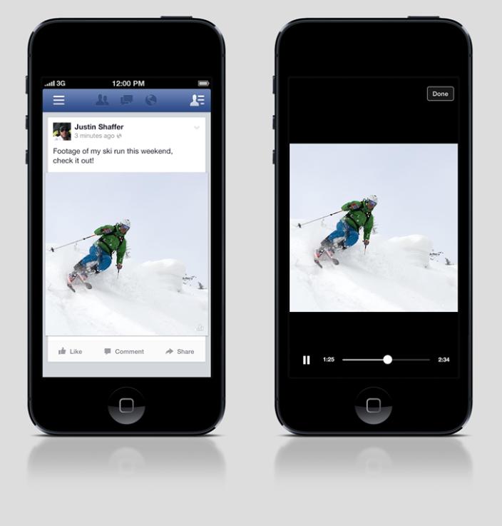Facebook autoplaying