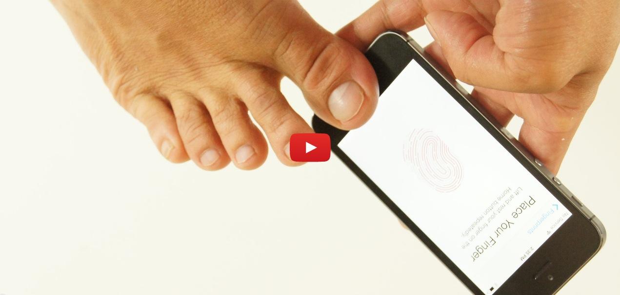 Il Touch ID si può impostare anche con naso, dita dei piedi…e persino col capezzolo! [Video]
