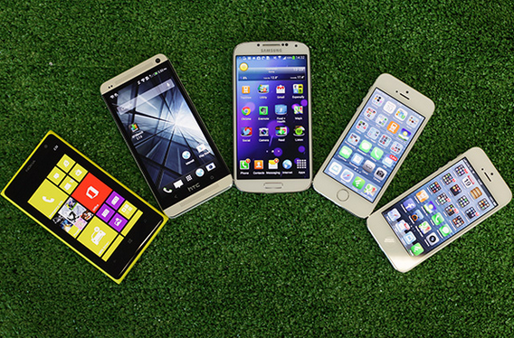 iPhone 5S vs iPhone 5 vs Lumia 1020 vs HTC One vs Galaxy ...