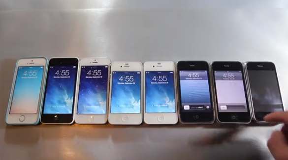 Ecco lo Speed Test tra iPhone 5S, 5C, 5, 4S, 4, 3GS, 3G, 2G [Video]