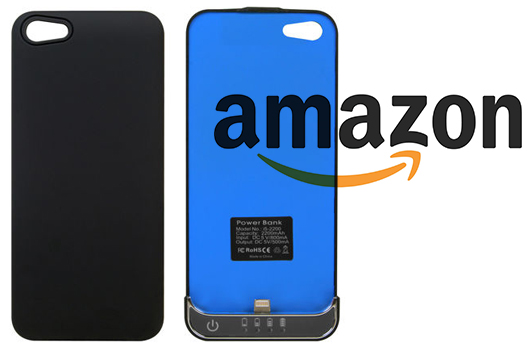 Offerta su Amazon: Slim-case con batteria da 2200mAh per iPhone 5 a 14,60€