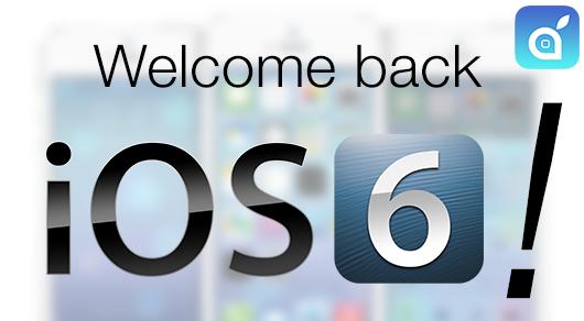 ios6 downgrade