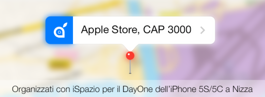 nizza mappa evento apple iphone 5s