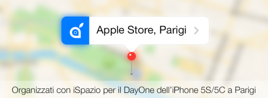 parigi ispazio mappa evento apple iphone 5s