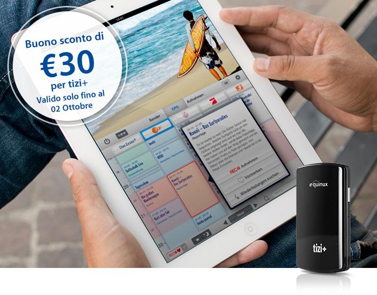 Tizi+, il digitale terrestre iPhone scontato di 30€ fino al 2 ottobre [Codice promozionale all'interno]