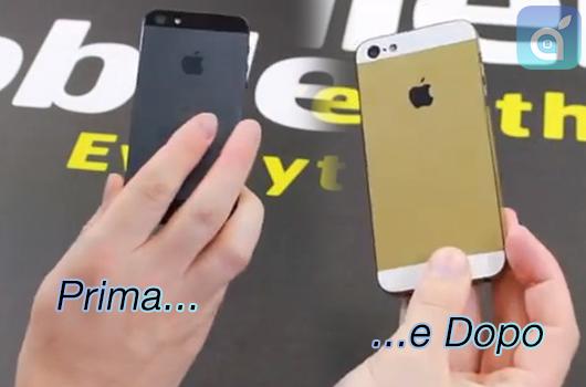 Trasforma il tuo iPhone 5 in un iPhone 5S Gold con la pellicola da 18€