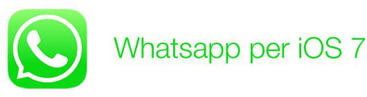 whatsapp per ios7