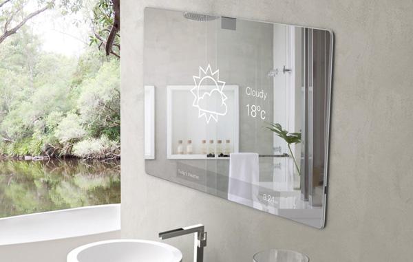 Lo specchio interattivo diventa realtà: Mirror 2.0, connessi…anche in bagno!