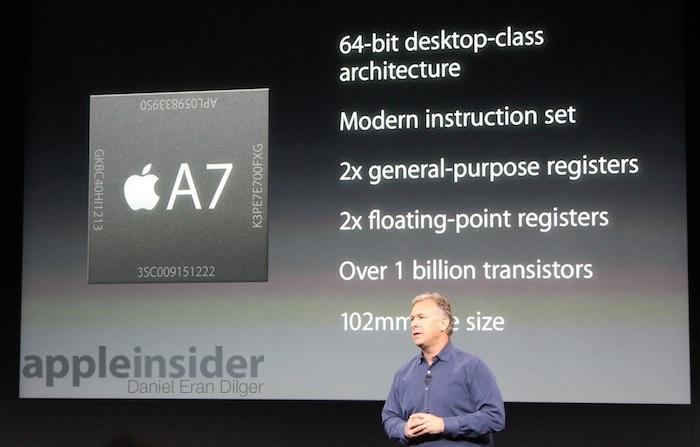 Il processore A7 con architettura a 64 bit massimizza le prestazioni