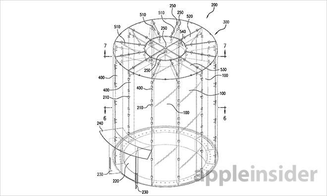 Apple brevetta l'ingresso in vetro di forma cilindrica del proprio Store a Shanghai
