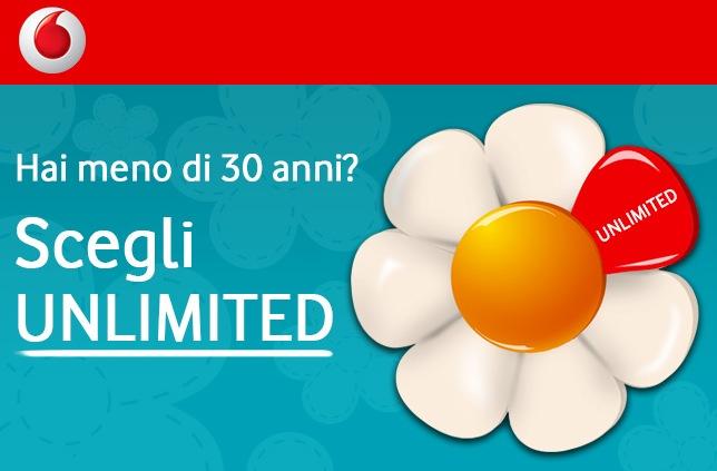 Vodafone: Scegli UNLIMITED ed aggiungi GRATIS al tuo pacchetto SMS illimitati ed 1 GB di internet in più al mese