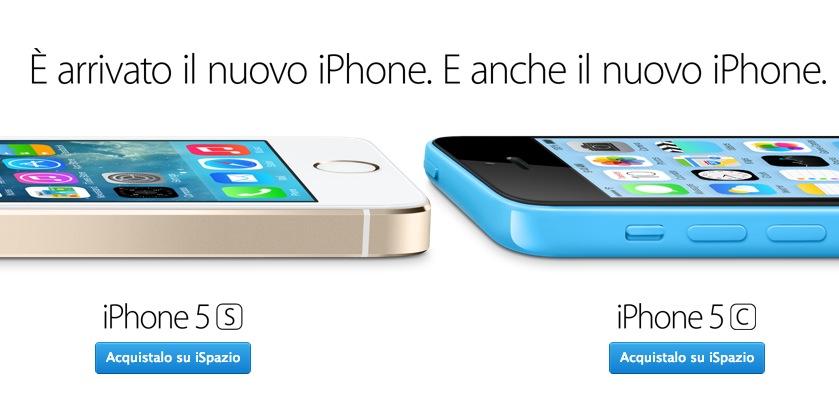 Acquista il tuo iPhone 5S o iPhone 5C su iSpazio con le offerte in Abbonamento e Ricaricabile 3 | ESCLUSIVA