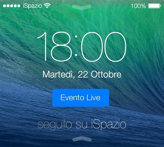 L'Evento Apple del 22 Ottobre si segue su iSpazio! Scopriamo i nuovi iPad, Mac ed OSX a partire dalle ore 18:00.