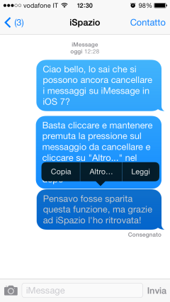 messaggi imessage