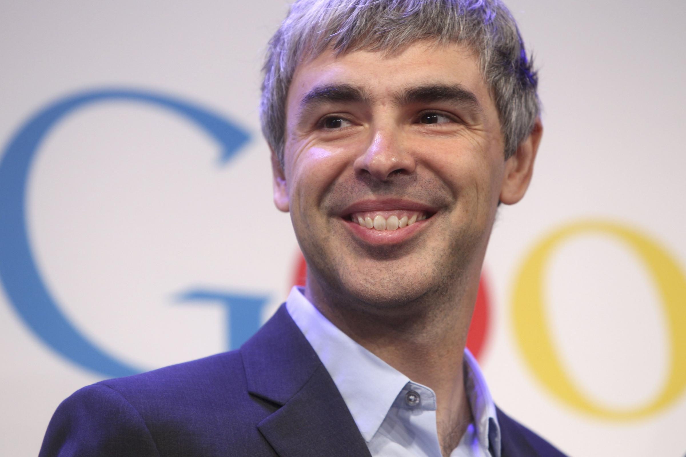 Conferenza stampa di Larry Page, CEO e fondatore di Google