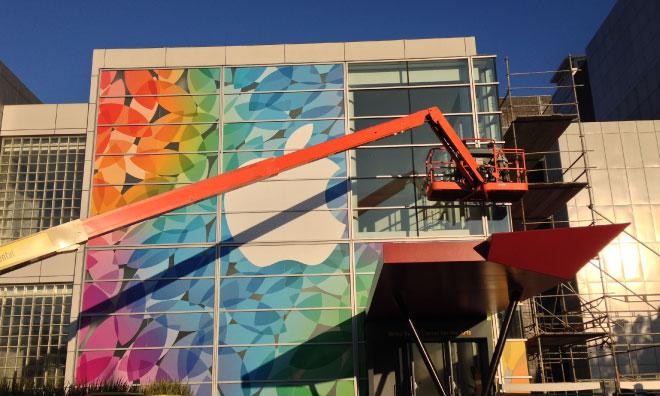 Continuano i lavori di Apple sullo Yerba Buena Center in attesa dell'evento di Martedì