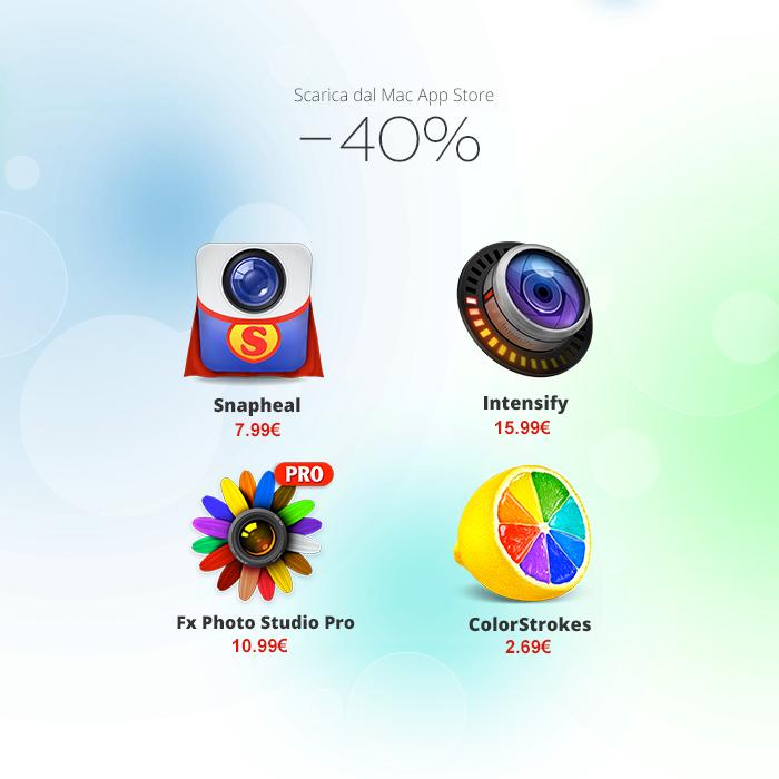 Il kit perfetto: 40% di sconto su quattro applicazioni di fotoritocco per Mac