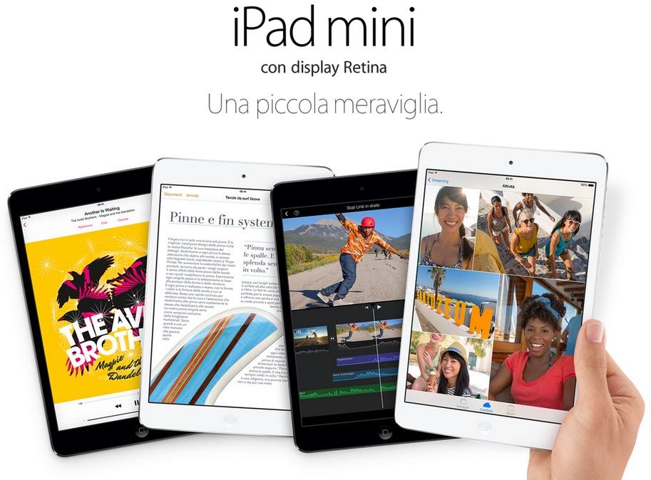 Il nuovo iPad mini retina è disponibile all'acquisto <br/> sullo Store online! [Aggiornato]