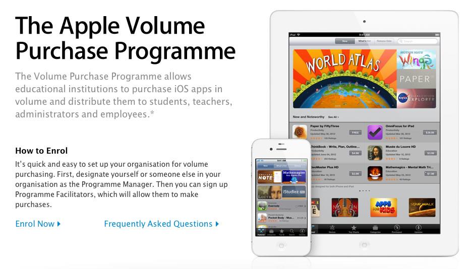 Apple espande il limite di acquisti a volume