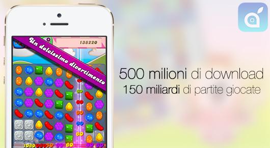 Cifre record per Candy Crush Saga: raggiunti 500 milioni di download!