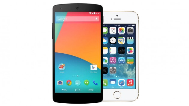 nexus 5 iphone 5s