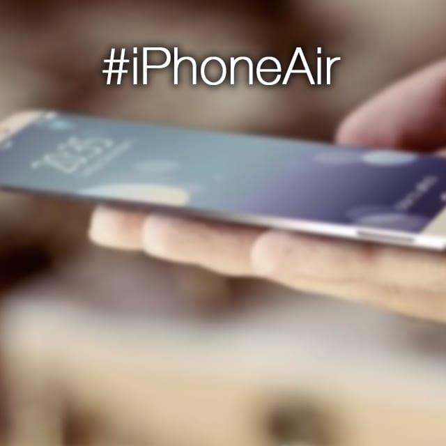 iPhone Air: ultra-sottile, interamente in alluminio e con display più grande