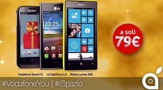 Vodafone offre Nokia Lumia 520, LG Optimus L5 e Vodafone Smart III a soli 79€!