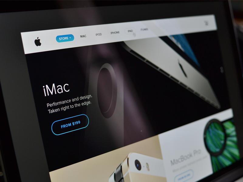 Apple.com: il nuovo sito della società in stile iOS 7 | Concept