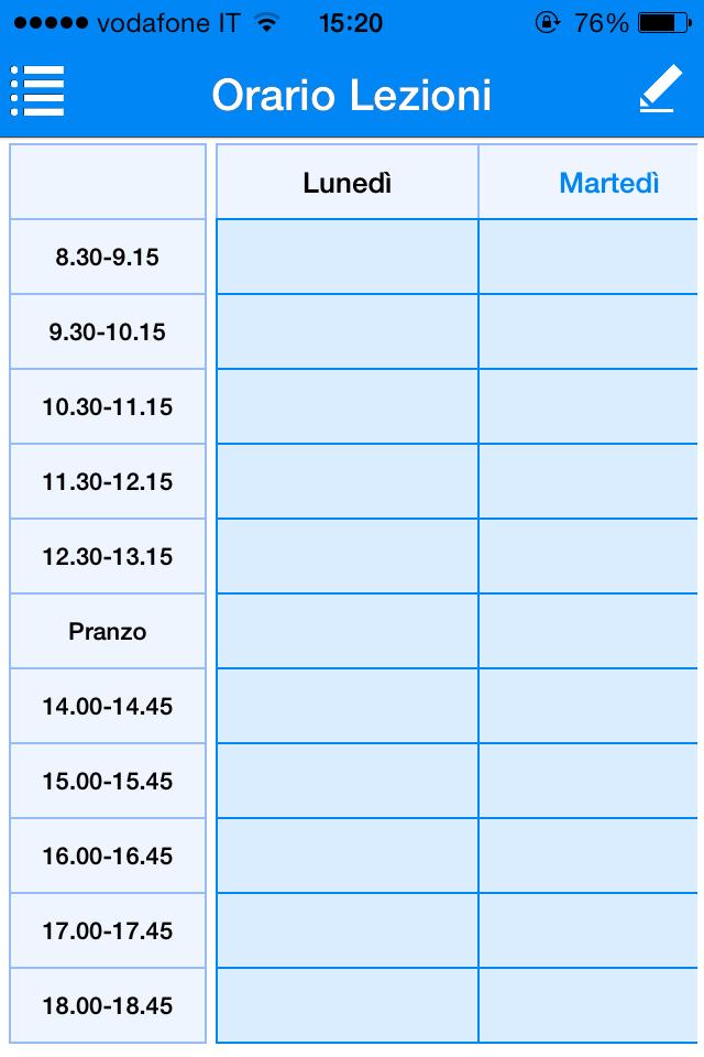 Conosciuto Orario delle Lezioni: la tua vita scolastica a portata di iPhone  HH28