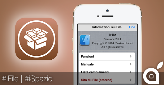 iSpazio prova il file manager iFile su iPhone 5S iOS 7 | Cydia Video Review