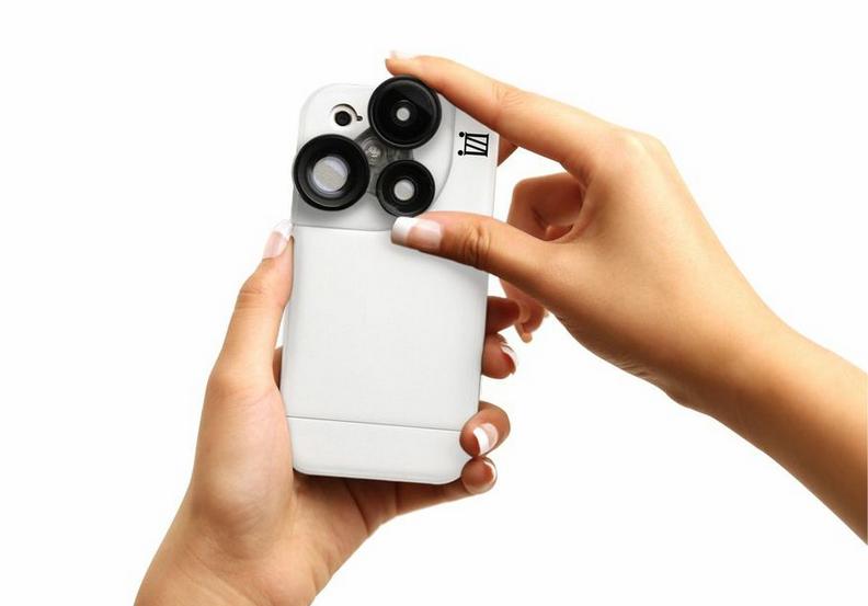 Trasformate il vostro iPhone in una vera macchina fotografica grazie alla cover iZZi Slim   CES 2014