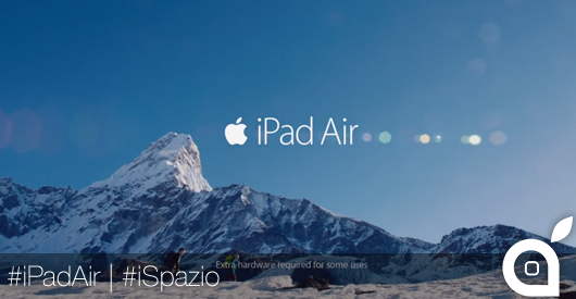Nuovo spot TV dell'iPad Air: Your Verse Anthem