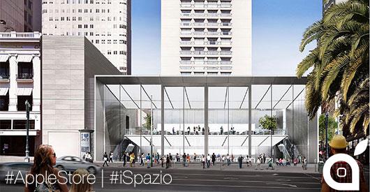 Nuovo Apple Store a San Francisco con porte di 13 metri in cristallo