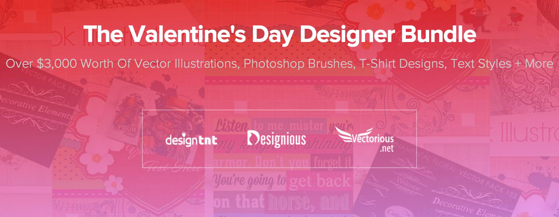 Valentine's Day Designer Bundle: 3000$ di elementi grafici a soli 39$