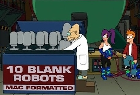 futurama mac formatted robots