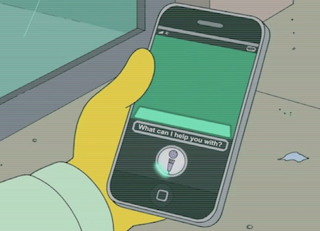 siri simpsons shot