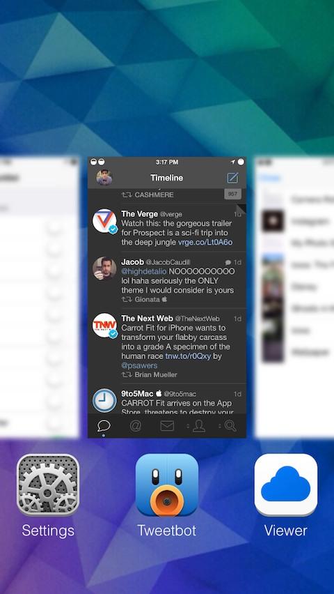 Switcher Blur, per aggiungere una sfocatura alle app nel multitasking   Cydia [Video]