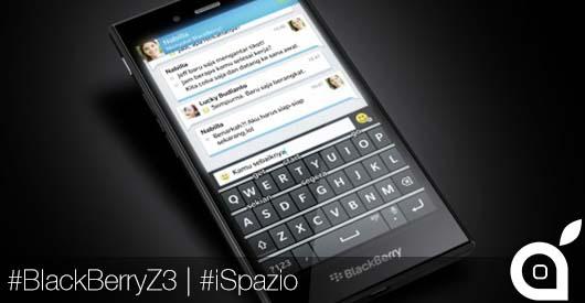 [MWC 2014] Blackberry svela un altro dispositivo: lo Z3