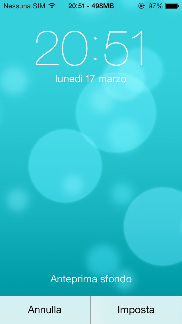 Sfondo azzurro iphone 6